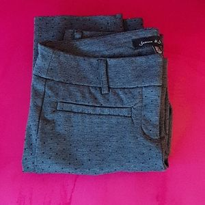 Grey Raised Polka Dot Fitted Pants